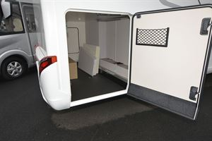 The garage in the Hymer Exsis-i 580 Pure motorhome