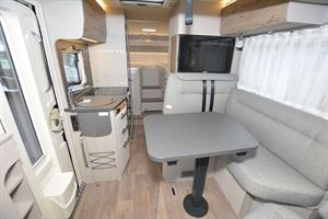 A view of the interior in the Hymer Exsis-i 580 Pure motorhome