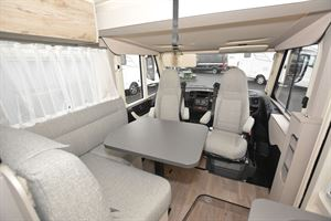 The lounge in the Hymer Exsis-i 580 Pure motorhome
