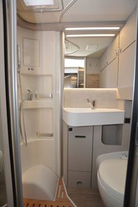 The washroom in the Hymer Exsis-i 580 Pure motorhome