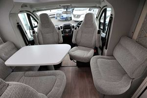 The front lounge in the Hymer TGL 578 Ambition