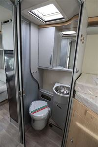 The WC and washroom in the Hymer TGL 578 Ambition