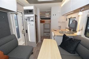 The interior in the Hymer T-Class S 685 motorhome