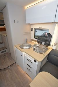The kitchen in the Hymer T-Class S 685 motorhome