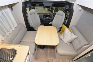 The lounge in the Hymer T-Class S 685 motorhome