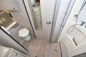 The washroom in the Hymer T-Class S 685 motorhome