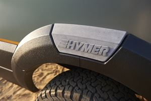 Wheelarch detail on Hymer's Vision Venture concept