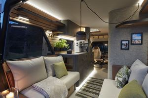 The interior view of Hymer's Vision Venture concept