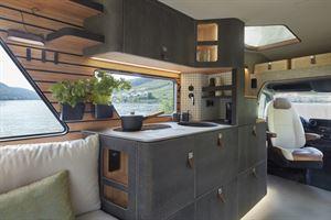 Hymer's Vision Venture concept kitchen