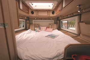 The biggest bed in a van conversion