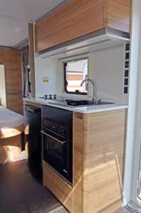 The nearside kitchen