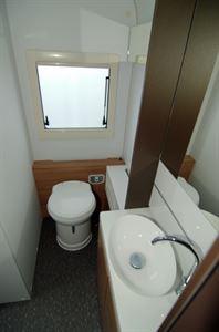 A full-width rear washroom