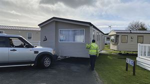 'Slowly!'  The holiday home comes within inches of another