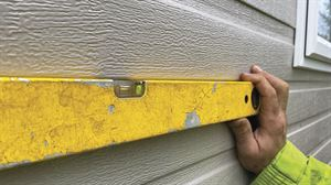 A spirit level is used on all sides