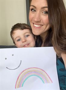 Online Content Editor Chloë and her eldest son