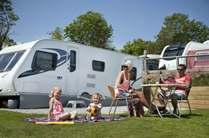 Family fun at Ladram Bay, Devon
