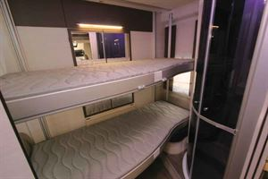 The drop-down bunks