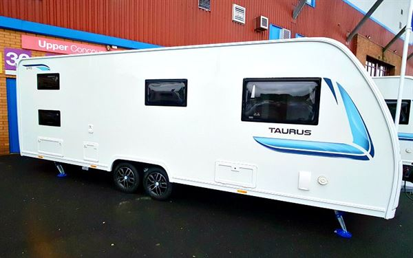 One of the new Lunar Taurus caravans for 2020