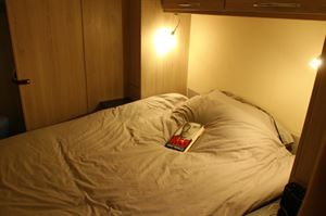 The island double bed