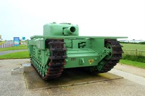 One of the many D-Day tanks near the Normandy beaches
