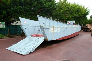 The landing craft at the Grand Bunker
