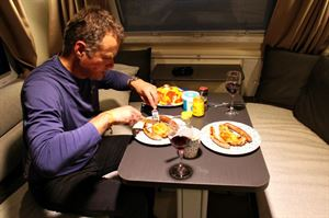 The Antares 480 is good for dining and socialising