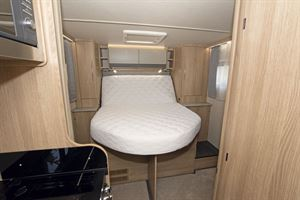 The double bed in the Auto-Trail Imala 730 HB motorhome