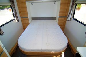 Large, comfortable island bed