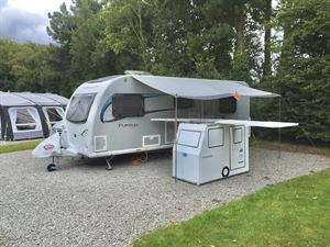 An example of an awning for a caravan