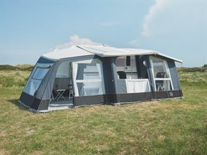 An awning for a caravan