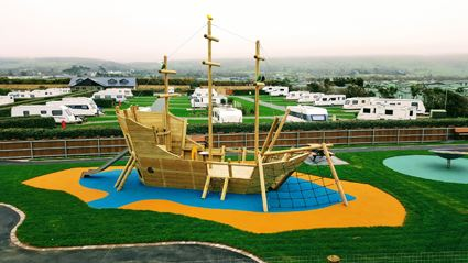 Islawrffordd Caravan Park's new play area