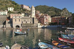 The beautiful harbour at Vernazza