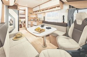 Itineo SC700 Motorhome interior with Bunk Beds
