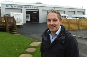 Tyne Valley Motorhomes Director John Bell outside the new service centre