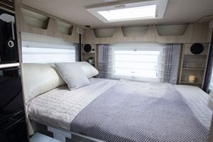 The drop down bed in the Mobilvetta K-Yacht 80 the