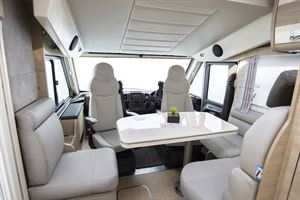 The front lounge in the Mobilvetta K-Yacht 80