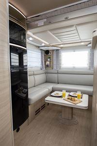 The rear lounge in the Mobilvetta K-Yacht 80