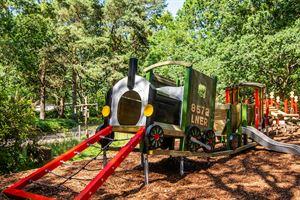 Steam train adventure play area (Photo courtesy of Kelling Heath Holiday Park)
