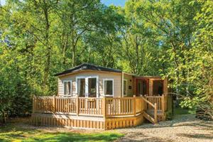 One of the many luxury lodges at Kelling