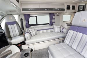 The lounge in the Auto-Sleeper Kemerton XL campervan