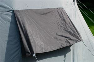 The rear vent in the Berghaus Kepler 9 tent
