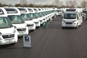 A range of motorhomes and caravans are featured in the summer event at Kimberley's Darlington branch