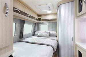 The fixed bed to the rear of the Kingham - picture courtesy of Auto-Sleepers