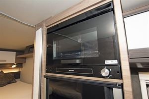 Close-up of the oven in the Knaus Live I 700 MEG motorhome