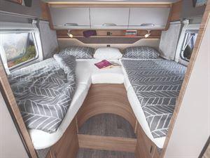 Knaus Van TI-650 Motorhome interior with Single Bed Layout