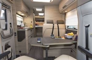 The interior of the Knaus Van TI Plus 650 MEG 4x4 motorhome