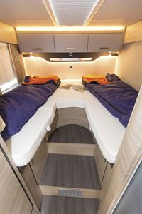 Twin beds in the Knaus Van TI Plus 650 MEG 4x4 motorhome