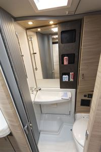 The washroom in the Knaus Van TI Plus 650 MEG 4x4 motorhome