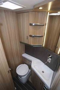 The washroom - picture courtesy of Southdowns Motorcaravans