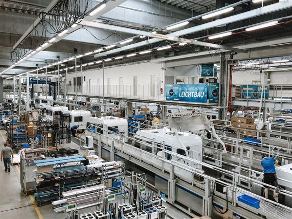 The Knaus Tabbert factory in Germany